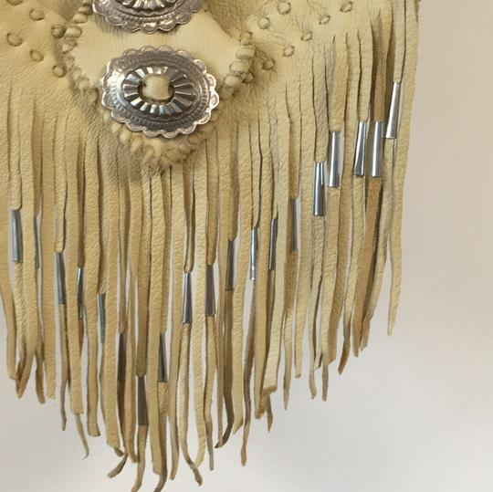 Free People Leather Fringe Silver Cross Body Bag Image 4