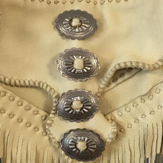 Free People Leather Fringe Silver Cross Body Bag Image 5
