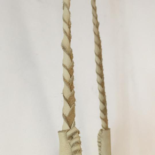 Free People Leather Fringe Silver Cross Body Bag Image 6