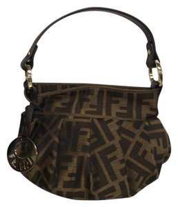 Fendi Monogram Brown Hobo Bag