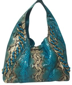 Michael Kors Tote in Turquoise And Brown