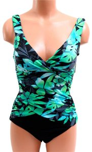 Tropical Honey Body Slimming floral, blue, green, black,Bust Enhancing
