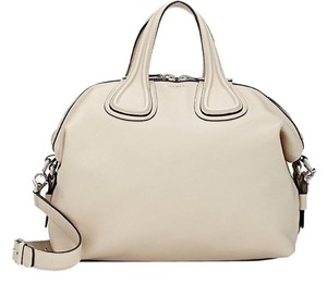 Givenchy Nightingale Waxy Satchel in beige