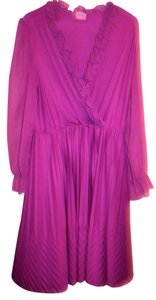 JCPenney Sheer Purple Longsleeve Dress