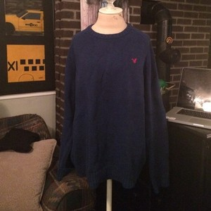 American Eagle Outfitters Boyfriend Cotton Suede Sweater
