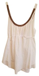 Free People Boho Summer Beaded Cotton Top white
