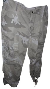 Da-Nang Casual Embroidered Capris Light camouflage