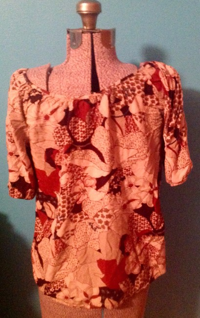 Lucky Brand Floral Rayon Short Sleeves Button Down Shirt Image 1