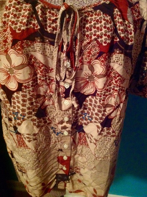 Lucky Brand Floral Rayon Short Sleeves Button Down Shirt Image 8