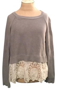 American Eagle Outfitters Cotton Lace Casual Spring Sweater