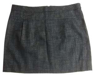 J.Crew #jcrew #miniskirt Metallic Fiber Mini Skirt Navy blue