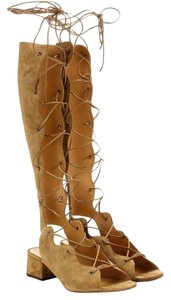 Saint Laurent Ysl Gladiator Lace Up Gladiator Sandals
