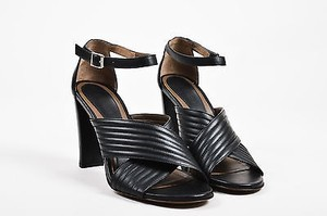 Marni Leather Quilted Black Sandals