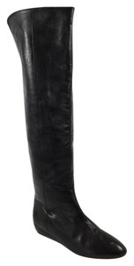 Loeffler Randall Riley Leather Black Boots