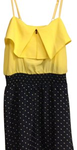 Xhilaration short dress Yellow/navy on Tradesy