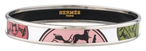 Hermes Multicolor Herms Narrow Enamel bracelet with palladium casing
