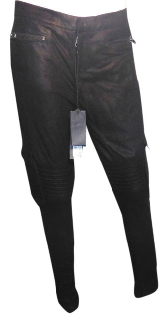 Item - Black Leather Military Cargo Jeans Size 29 (6, M)