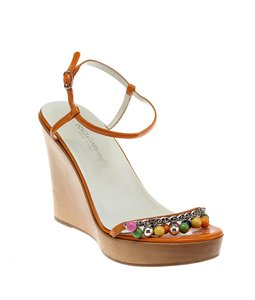 Dolce&Gabbana Orange & Multi-Color Wedges