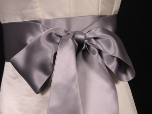 Your Dream Dress Exclusive Pewter Double Faced Satin Sash