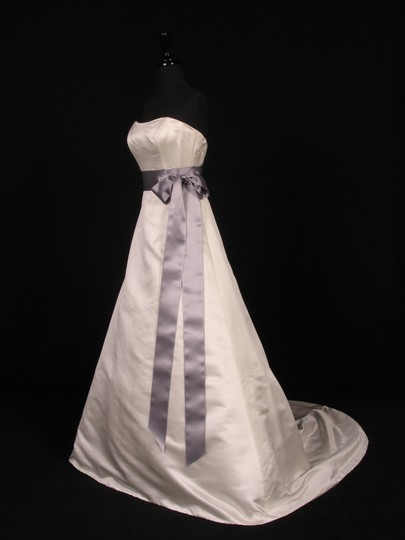 Pewter Grey Exclusive Double Faced Satin Sash Image 1
