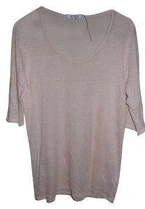 Allude Soft Casual T Shirt Light Pink