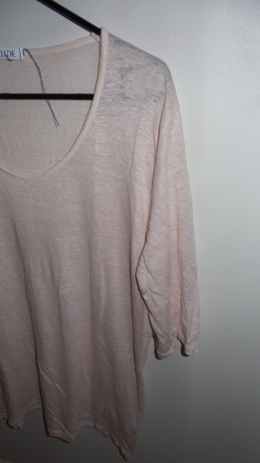 Allude Soft Casual T Shirt Light Pink Image 1