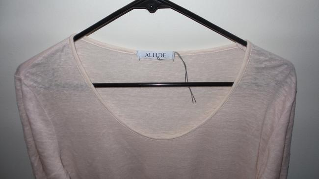 Allude Soft Casual T Shirt Light Pink Image 3