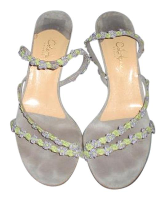 Item - Lilac/Green Collection Made In Italy Suede Slingback Heels Sandals Size US 9.5 Regular (M, B)