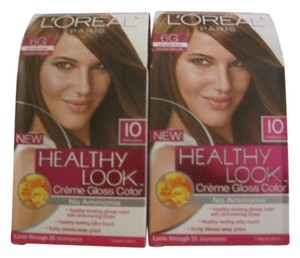 L'Oral L'Oreal Healthy Look Hair Color, Light Golden Brown #6G - 2 pack