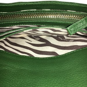 Linea Pelle Green W/ Solid Brass Hardware Clutch