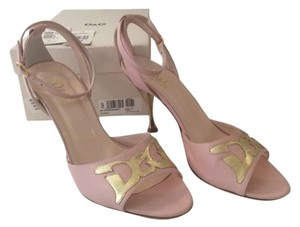 Dolce&Gabbana Pink & Gold Sandals