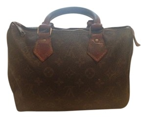 Louis Vuitton Classic Vintage Leather Tote in brown