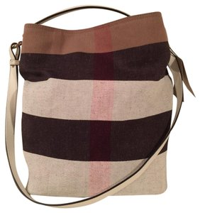 Burberry Ashby Mega Check Tote Hobo Bag