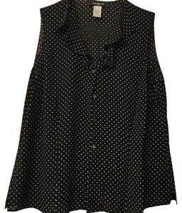 Jones New York Top Black polkadot