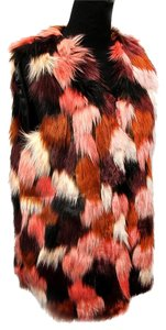 Other White Fur Faux Fur Faux Fur Shaggy Fur Vest