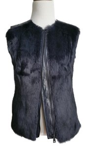 Vince Leather Fur Vest