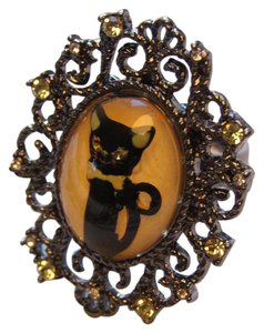 Betsey Johnson Kitty Heirloom Statement Ring
