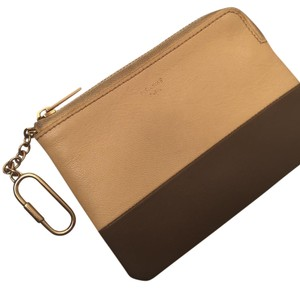 Céline Keychain Wallet Keychain Wallet Wristlet in Bicolor Yellow and Olive