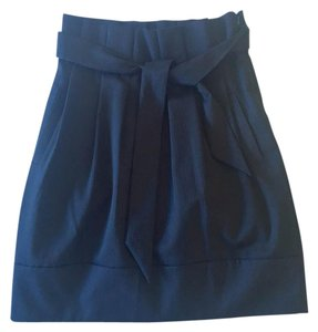 BCBGMAXAZRIA Professional Pinstriped Skirt Navy