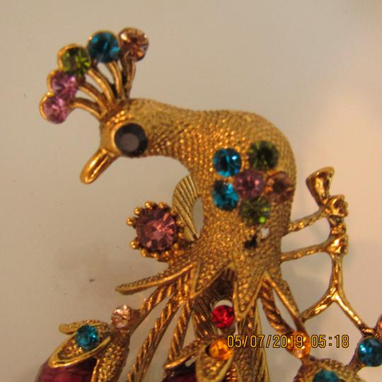 Other Unique 1920's Inspired Peacock Statement Hair Clip Image 1