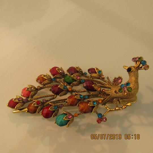 Other Unique 1920's Inspired Peacock Statement Hair Clip Image 11