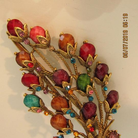 Other Unique 1920's Inspired Peacock Statement Hair Clip Image 3