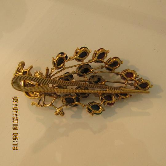 Other Unique 1920's Inspired Peacock Statement Hair Clip Image 5