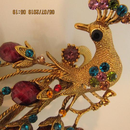 Other Unique 1920's Inspired Peacock Statement Hair Clip Image 7