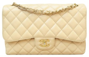 Chanel Caviar Jumbo Double Flap Cross Body Bag