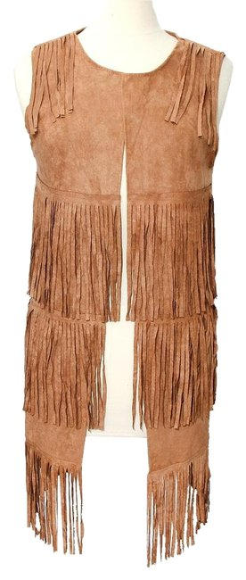 Preload https://img-static.tradesy.com/item/17954059/brown-boho-chic-suede-fringe-jacket-vest-size-os-one-size-0-1-650-650.jpg