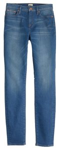 J.Crew Ankle Cropped Distressed Denim Skinny Jeans-Medium Wash