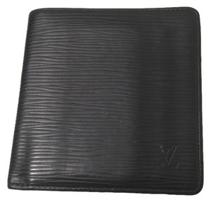 Louis Vuitton Louis Vuitton Black Epi Leather Bifold Wallet with 6 Credit Card Slots