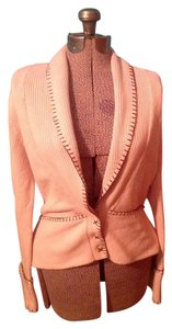Kenju Brown Snaps Pink Sweater Cardigan