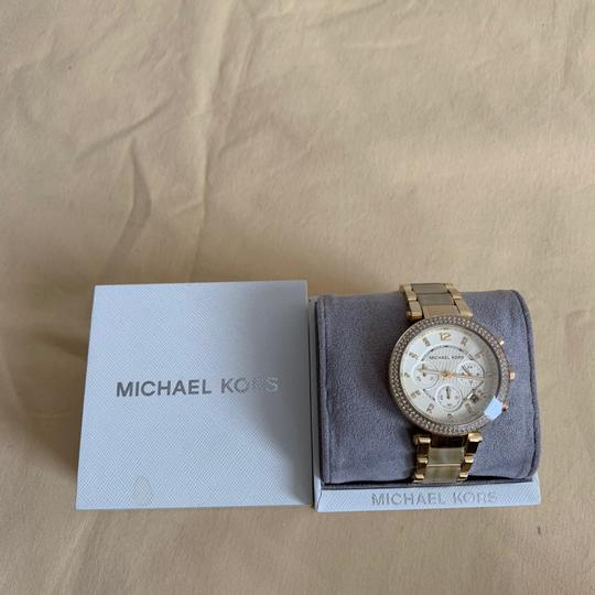 Michael Kors NWT Chronograph Parker Horn Acetate and Gold-Tone Watch MK5632 Image 1